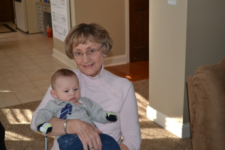 It is very clear that my grandma loves Logan VERY much!